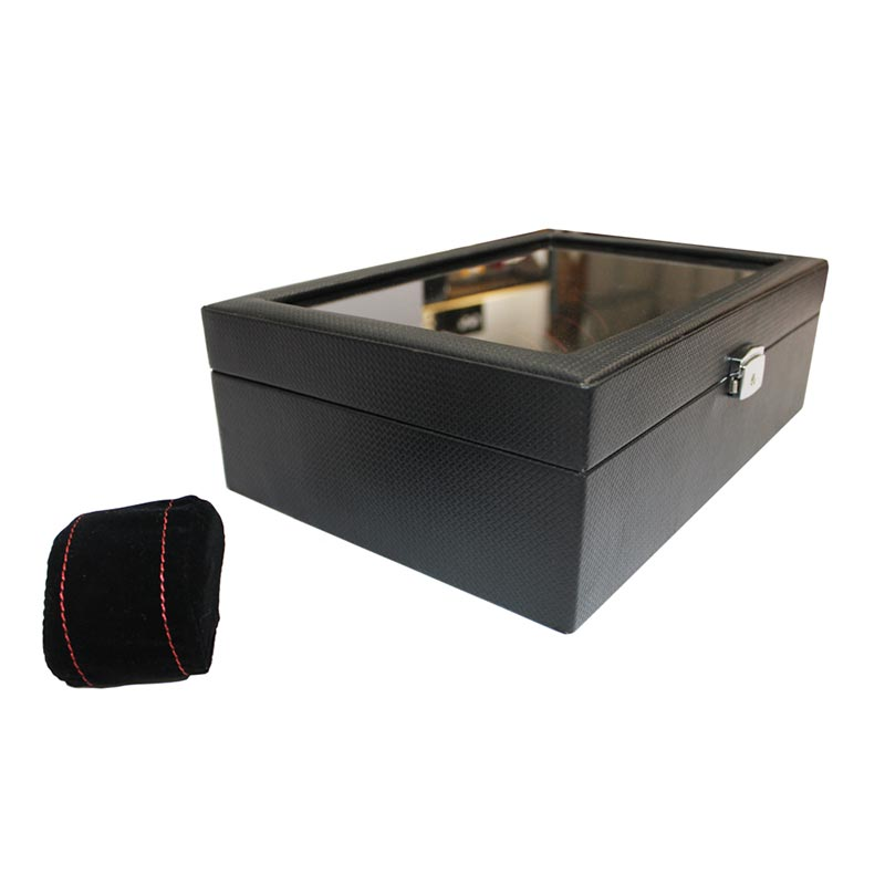 Luxury Piano Watch Case Box Display For 10 Watches Storage