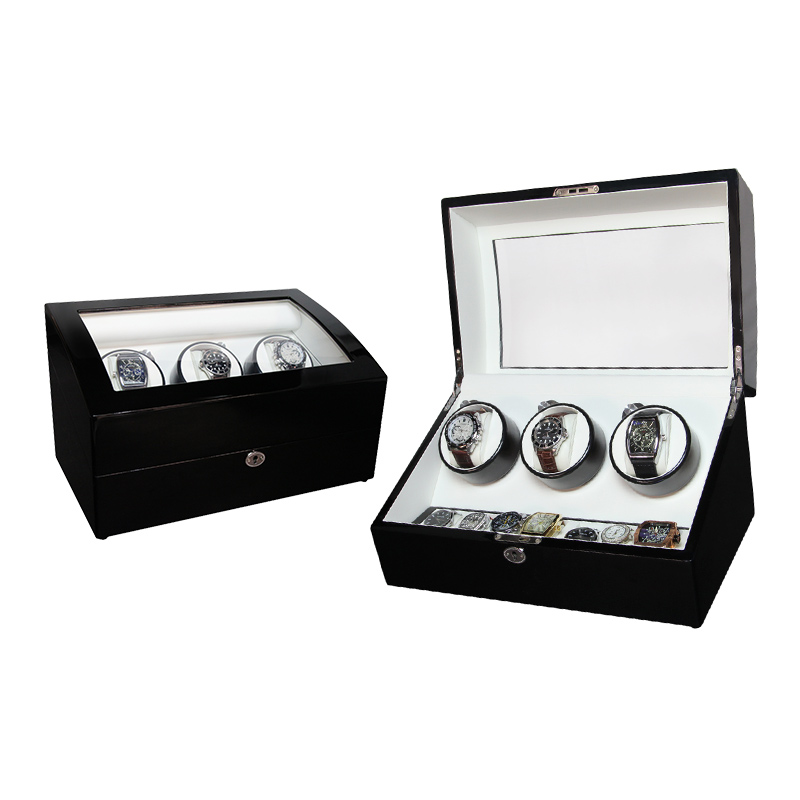 3+7 Automatic Wooden Mechanical Wrist Watch Winder Box
