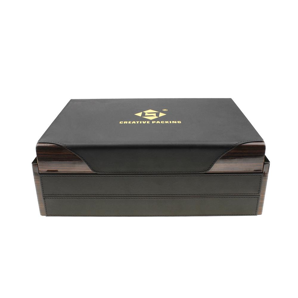 Custom Logo MDF Wooden Perfume Packaging Box